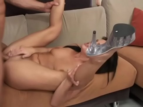 pretty black haired girl holly wellin  takes a hard cock in all holes