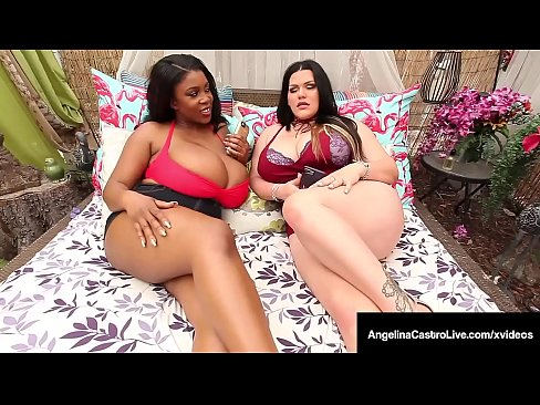 Interracial BBWs Angelina Castro & Maserati Share A Big Cock