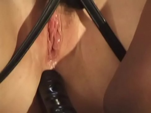 horny lesbian strippers doing hardcore fuck with huge strap-on dildo