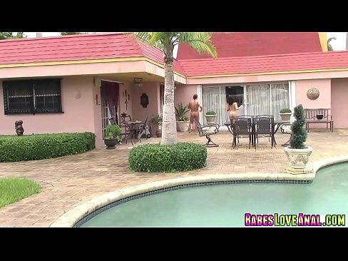 Kimber Woods suck her neighbors big cock deep in her throat XXX Sex Videos