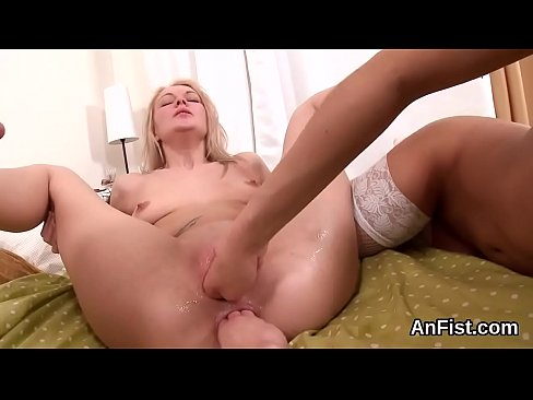 hot lesbian honeys are gaping and fisting anals