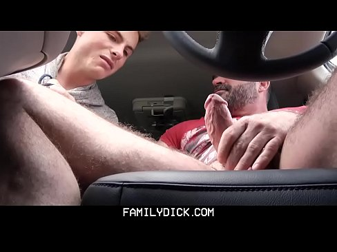 Twink stepson punish fucked by stepdad in family car