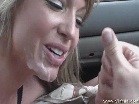 Milf car blowjob