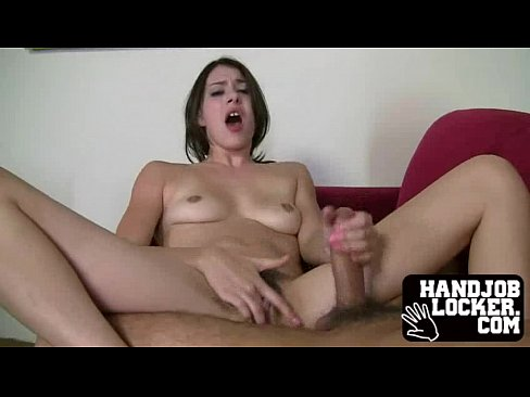 Amateur slut handjob