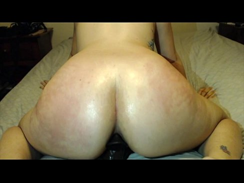 Black dildo fills sexy pawg ass