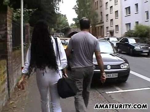 busty amateur girlfriend sucks and fucks with cum