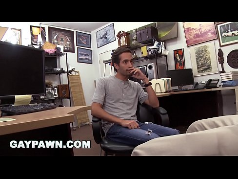 GAYPAWN - Dude moans like a lady while getting fucked in a pawn shop