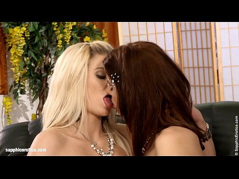 Loveseat Lappers by Sapphic Erotica – sensual lesbian sex scene with Kristine anXXX Sex Videos 3gp