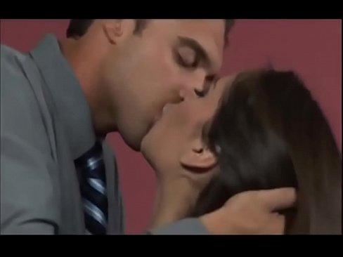 Kiss between boobs