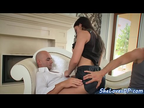 Busty Chick Assfucked And Jizzed On Ass