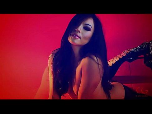Hot asian girl strips naked