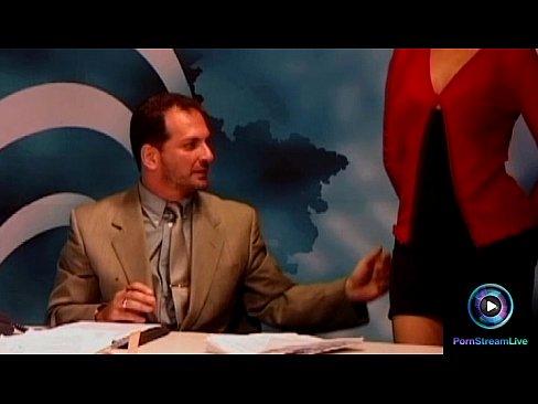 Pretty Dora Venter roleplaying as a horny newscasterXXX Sex Videos 3gp