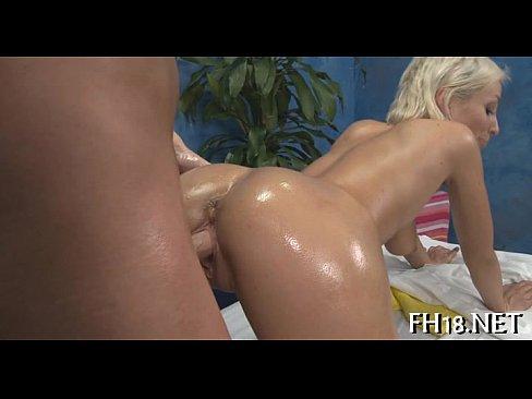 Nude women licking anus