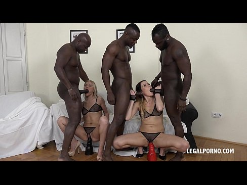 you gotta see this! cristina tess & samantha joons big black cock orgy!