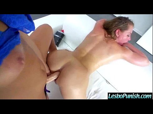 With Used Of Sex Toys Lesbians Enjoy Punishment (abella & carter) vid-1