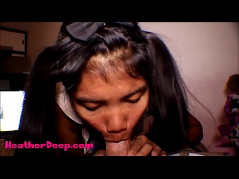 HD Thai Teen Heather Deep gives deepthroat throatpie for new laptop tablet