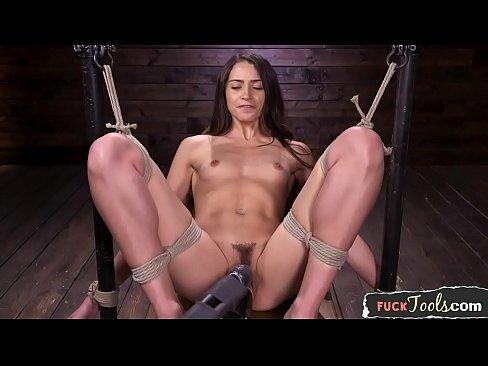 Dildo sucking sub fucked by sex machine