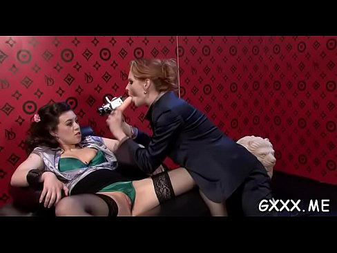 Captivating mature lesbian fucks cum-hole with different toys