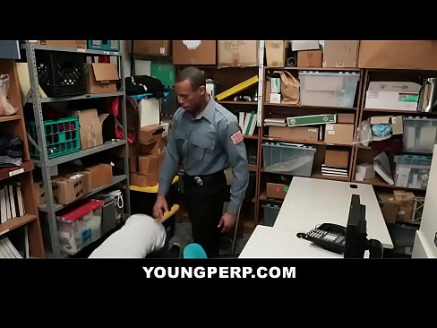 Young Ebony Shoplifter Gets Bareback Drilling - YOUNGPERP.COM