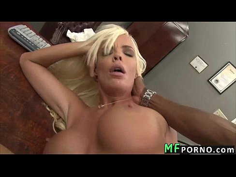 Hot blonde big black cock
