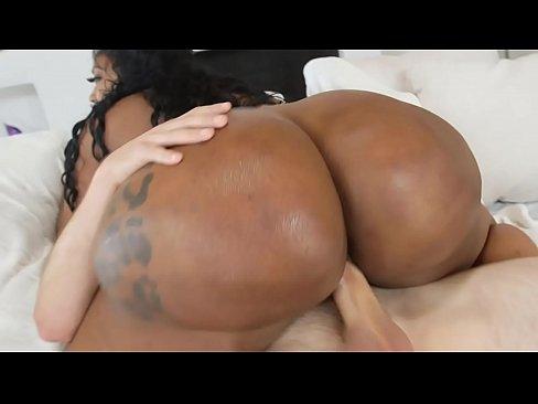 Huge ass black milf gets fucked hard