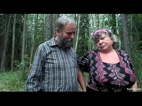 Old couple forest and amateur blowjob man