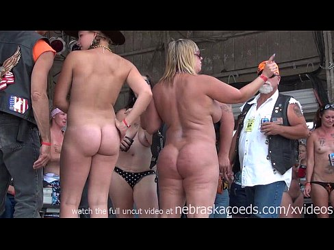 strip Amateur biker rally contest