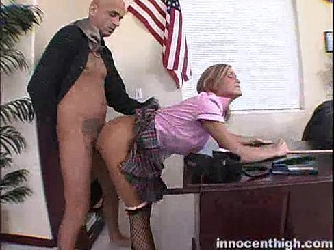 over and fucked Blonde bent