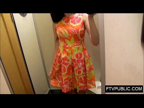 Public Dress Room Creampie