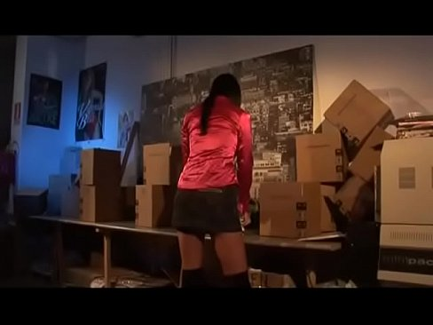 New sexy storekeeper fucked very hard in the warehouse