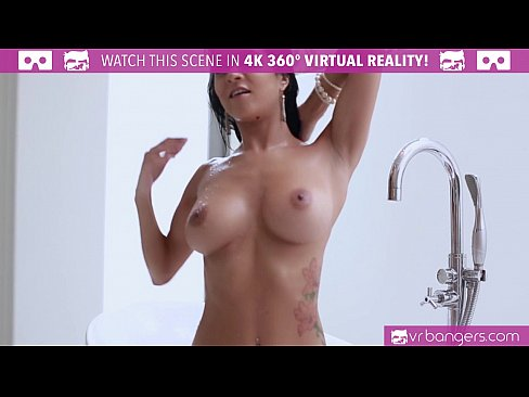 VRBangers.com Hot Brazilian Chick Rubbing her WET PUSSY in The Tub
