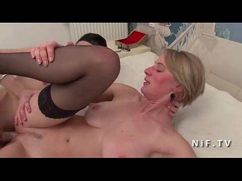 stockings blonde amateur fucked