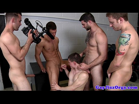 Gay orgy climax for jack king and pals