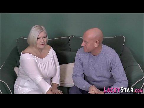 Brit granny sucks shlong and gets pounded