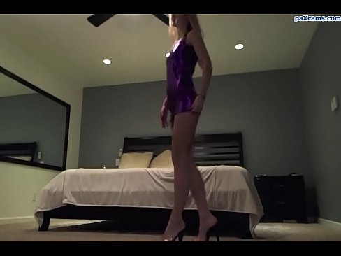Skinny blonde slut strips and plays with her pussy on webcam paxcams.com's Thumb
