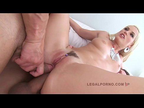LEGALPORNO FULL SCENE - Czech slut Blanche Bradburry 3on1 Double Anal