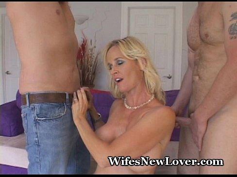 Very wet MILF Bangs Two New Lovers
