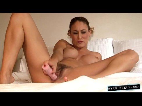 Solo Masturbation with big vibrator Ryan Keely