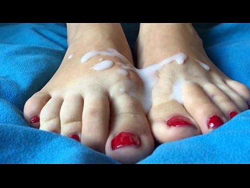 foot movie Cum