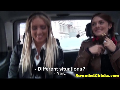 Stranded european schoolgirls suck dick pov