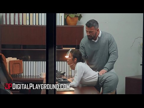 Busty (Alexis Fawx) fucking her boss in the office - Digital Playground