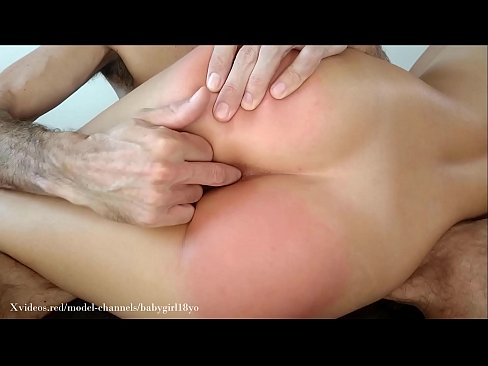 I get a spanking before he fucks my ass until my pussy drips! POV from below with anal creampie.