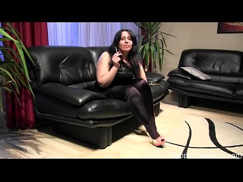 Smoking fetish and foot fetish video