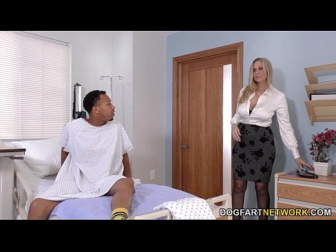 Cougar Doctor Julia Ann Cures Black Cock's Thumb