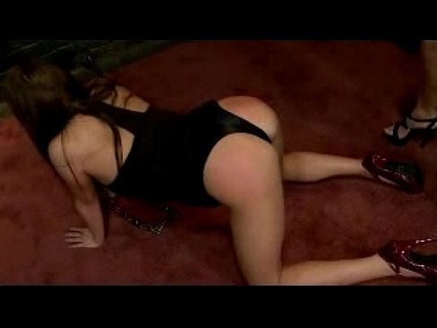 Busty Girl With Collar And High Heels Getting Whipped Tits Slapped