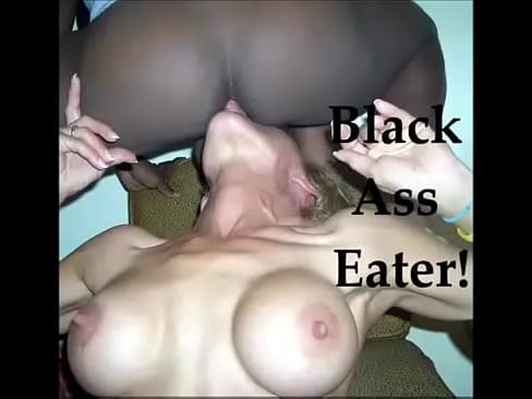 Married freaky milf eats black lovers ass