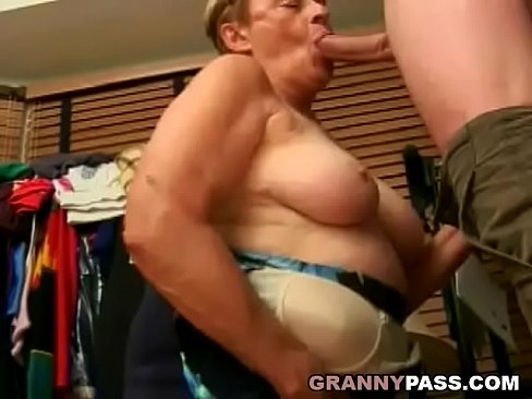Chubby grannies sucking cock