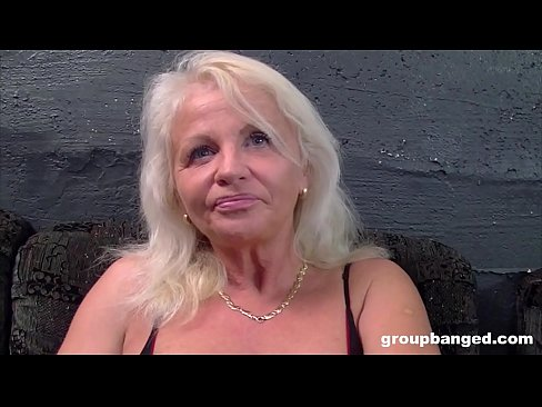 German granny gangbanged by a bunch of young guys's Thumb