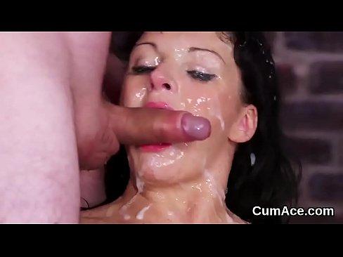 Wife cum my loads eating