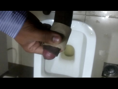 Horny indian gay boy masturbating in office toilet in